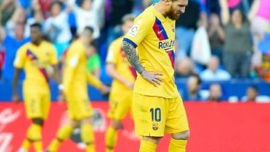 Photo de Le FC Barcelone  s'est  incliné à Levante sur le score de 3-1