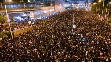 Photo de Un premier mort lors d'affrontements entre la police et les manifestants  à Hong Kong