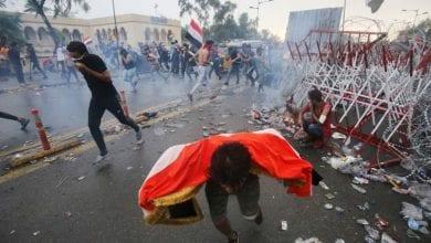 Photo de Les manifestations populaires se poursuivent en Irak et retours des services Internet