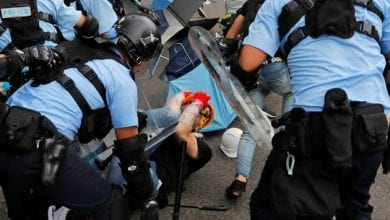 Photo de une loi soutenant les manifestants pro-démocratie à Hong Kong