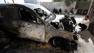 Photo of Palestinians: Israeli settlers torch cars in West Bank