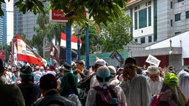 Photo de Indonésie: Manifestations devant l'ambassade de Chine en soutien à Ouïghours