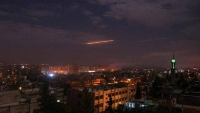 صورة الدفاعات السورية تصدت لغارات إسرائيليةوقعت بالقرب من بلدة مصياف