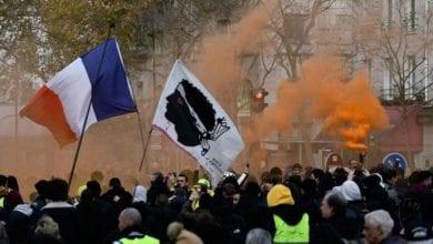 صورة الدعوة إلى مظاهرات جديدة ضد قانون اصلاح أنظمة التقاعد في فرنسا