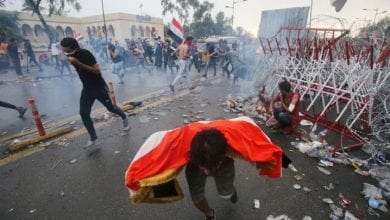 Photo de les manifestants accusent Halboussi et Barham de violer la Constitution