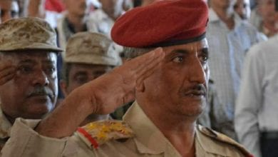 Photo of Brigadier Adnan al-Hamadi was shot in front of his house south of Taiz and taken to Aden
