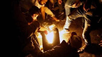 Photo of Lebanese protester sets himself alight in Beirut: Red Cross