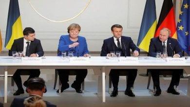 Photo de Poutine et  Zielinski sont liés par l'accord de cessez-le-feu dans l'est de l'Ukraine
