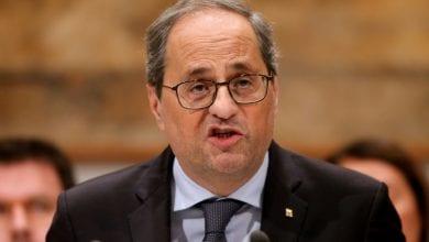 صورة المفوضية الاسبانية للانتخابات تأمر بتجريد رئيس كاتالونيا من مهامه النيابية