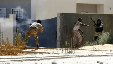 صورة مصدر عسكري: الميليشيات المسلحة جنوب طرابلس تنهار
