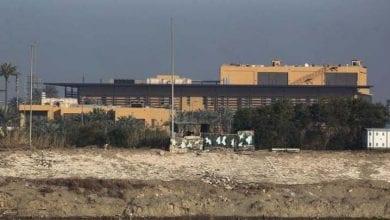 Photo de De roquettes tombées sur la zone verte de Bagdad près de l'ambassade américaine