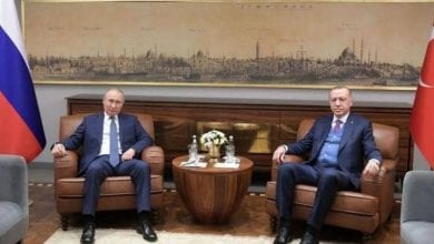 Photo de Erdogan et  Poutine appellent  à un cessez-le-feu en Libye