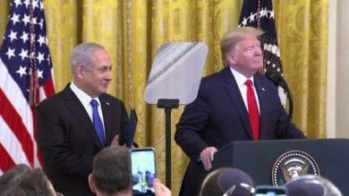 Photo de M.Trump annonce son plan de paix lors d'une conférence de presse
