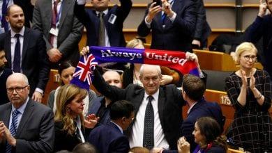 صورة البرلمان الأوروبي يصادق على معاهدة خروج بريطانيا من الاتحاد