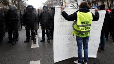 Photo of Tear gas, dozens of arrests in fresh anti-Macron protest in Paris