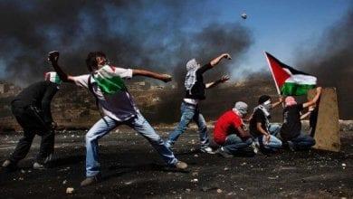 Photo de Affrontements entre Palestiniens et forces israéliennes