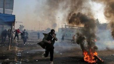 Photo de Morts et blessés lors affrontements entre manifestants irakiens et forces de sécurité