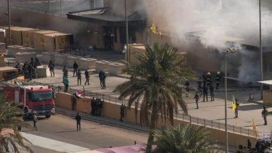 Photo de Des roquettes tombent près de l'ambassade américaine à Bagdad