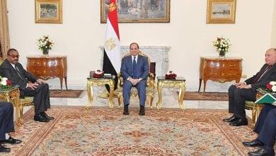 """صورة السيسي يؤكد إلتزام مصر """"بانجاح"""" مفاوضات سد النهضة الجارية مع إثيوبيا"""