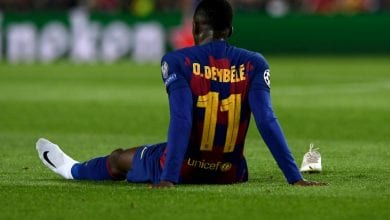 Photo of Barcelona's Dembele out with badly torn hamstring