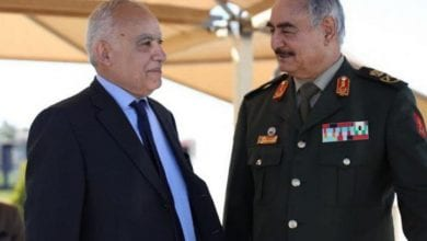 Photo de Ghassan Salamé arrive à Benghazi et rencontre Khalifa Haftar