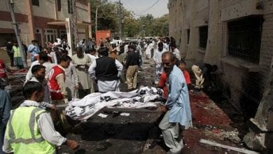 Photo of Policemen and another eight dead including 23 injured in suicide bomb attack on religious rally in Pakistan's Balochistan