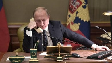 Photo of Vladimir Putin held telephone talks with Macron and German Merkel says terrorist threat should be neutralized while observing Syria's sovereignty
