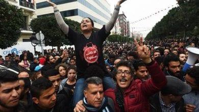 Photo de UGTT : Rassemblement de travailleurs contre le ralentissement de la formation du gouvernement