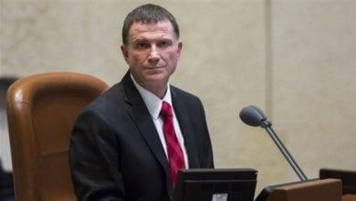صورة استقالة رئيس الكنيست الإسرائيلي يولي إدلشتاين من منصبه