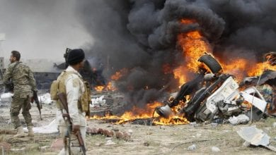 صورة غارات جوية أمريكية على مواقع لحزب الله العراقي