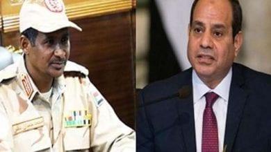 صورة نائب رئيس المجلس السيادي السوداني يصل القاهرة لمناقشة أزمة سد النهضة