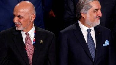 صورة رئيسان لأفغانستان!