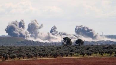صورة قوات النظام التركي تستهدف مقرالقيادة الروسيةفي ريف منبج بشمال سوريا