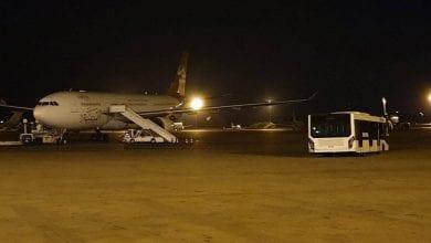 صورة إغلاق مطار معيتيقة الدولي الليبي وإخلائه من الموظفين والمسافرين