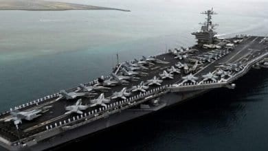 Photo of American atomic carrier arrives in the eastern Mediterranean