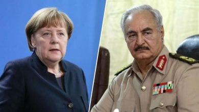 Photo of Field Marshal Haftar arrives in Berlin to meet Merkel