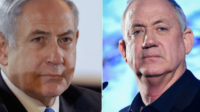 Photo of Netanyahu and Gantz  wrapping up another bitter election campaign, before voters cast their ballots for the third time in 12 months.