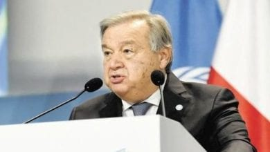 """Photo of UN chief Antonio Guterres: COVID-19 threatening the """"whole of humanity"""""""