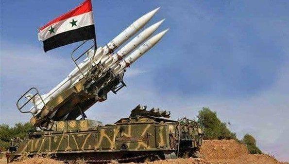La défense aérienne syrienne