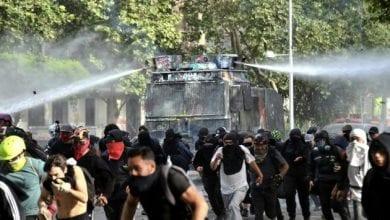 Photo de Chili: Affrontements entre manifestants et forces de l'ordre