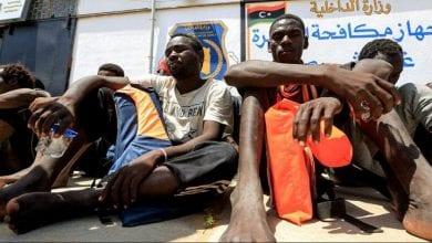 Photo de Un marché pour la vente d'immigrants illégaux en Libye