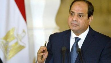 صورة السيسي يحذر من محاولات تدمير الدولة المصرية