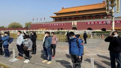 صورة حداد في الصين على أرواح ضحايا وباء كورونا