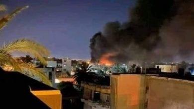 صورة مقتل ١١ جندي تركي في غارة نفذها الجيش الليبي على قاعدة معيتيقة