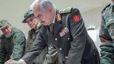 صورة حفتر يتوعد المرتزقة والميليشيات في ليبيا