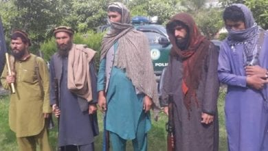 Photo of ISIS militants surrender to Afghan forces in eastern Kunar province of Afghanistan