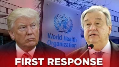 Photo of UN Chief Antonio Guterres Issues First Response to Trump: 'Not the time' to reduce funds for WHO