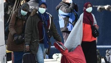 Un camp de migrants