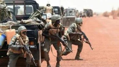 Photo de vingt soldats maliens  tués au cours d'une attaque des terroristes