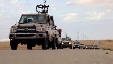 صورة تحركات عسكرية كبيرة على الشريط الساحلي الغربي الليبي